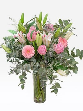 Arrangements: Pastel Pink Glass Vase