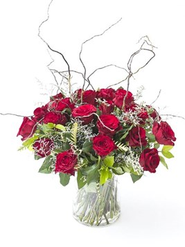 Arrangements: Glorious Red Rose Arrangement