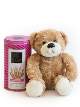 Soft Toys and Gifts: Teddy Bear & Pink D'licious Wafers