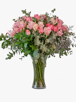 Arrangements: Pink or Pastel Rose Vase