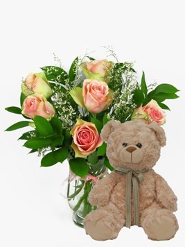 Arrangements: Lovely and Pink with Teddy