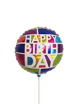 Balloons and Cards: Happy Birthday Foil Balloon
