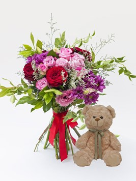 Bouquets: Pink Love with Teddy