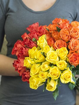 Bouquets: Bright Rose Bouquet - 80 Roses